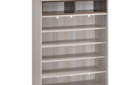 Jarvy Shoe Cabinet (6 Level Shelf) 11084-Ww+Oak*T1