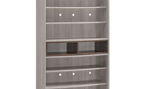 Jarvy Shoe Cabinet (8 Level Shelf) 11085-Ww+Oak*T1