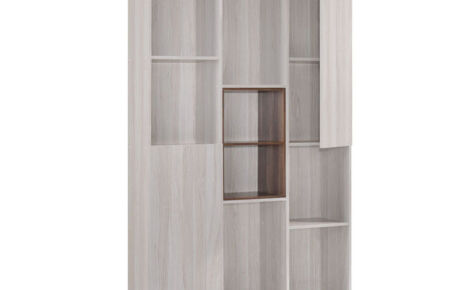 Jarvy Book Case (10 Compartments) 6146-Ww+Oak*T1