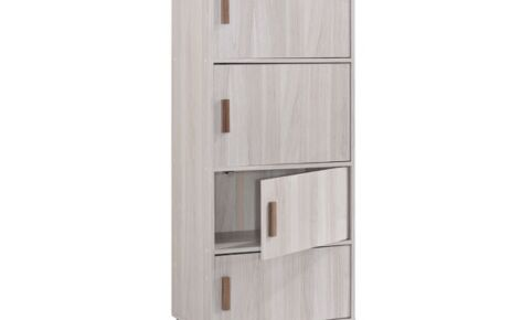 Jarvy Multipurpose Cabinet (4 Shelves) 7041-Ww+Oak*T1