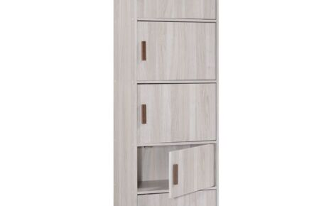 Jarvy Multipurpose Cabinet (5 Shelves) 7042-Ww+Oak*T1