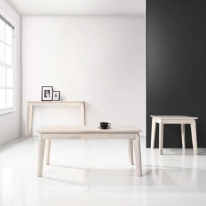 Scandinavian SET: 1 COFFEE+1 END+1 CONSOLE TABLE