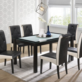 E-DS SET 6 CHAIRS + 1 TABLE