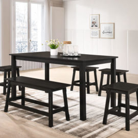 E-DS SET 4 STOOL + 1 BENCH + 1 TABLE