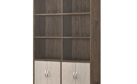 Jim Book Case – 4 Level with Bottom Closed Compartment (Wide)