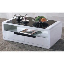 COFFEE TABLE WITH GLASS TOP 3M-CT-1007
