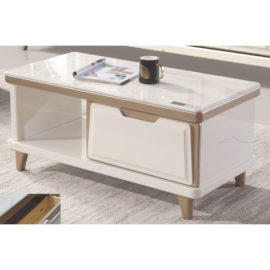 COFFEE TABLE WITH GLASS TOP 3M-CT-1074