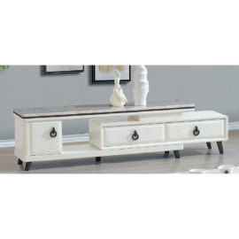 EXTENDABLE MARBLE TOP TV CONSOLE 3M-TV-1144