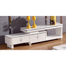 EXTENDABLE MARBLE TOP TV CONSOLE 3M-TV-1154