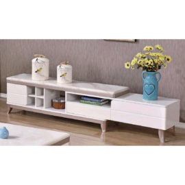 EXTENDABLE MARBLE TOP TV CONSOLE 3M-TV-1160