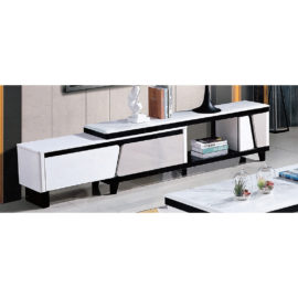EXTENDABLE MARBLE TOP TV CONSOLE 3M-TV-1201