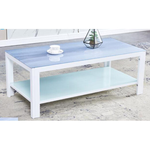 COFFEE TABLE WITH GLASS TOP 3M-CT-7008-WHT
