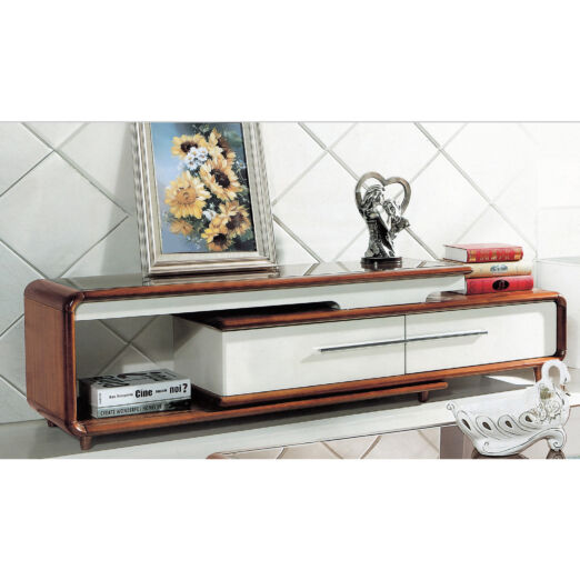 EXTENDABLE GLASS TOP TV CONSOLE 3M-TV-1103
