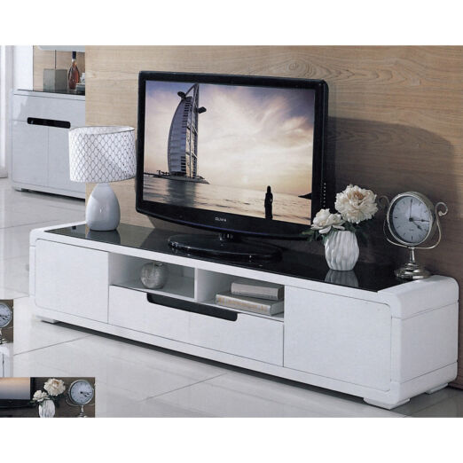 GLASS TOP TV CONSOLE 3M-TV-1107