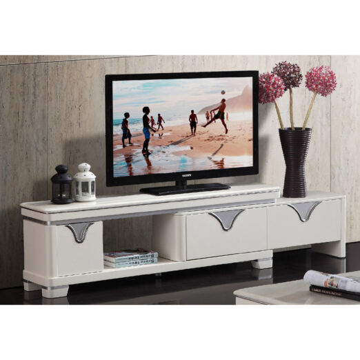 EXTENDABLE MARBLE TOP TV CONSOLE 3M-TV-1118