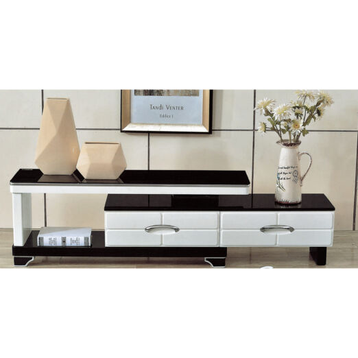 EXTENDABLE GLASS TOP TV CONSOLE 3M-TV-1132