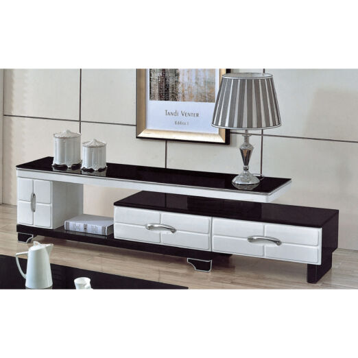 EXTENDABLE GLASS TOP TV CONSOLE 3M-TV-1133