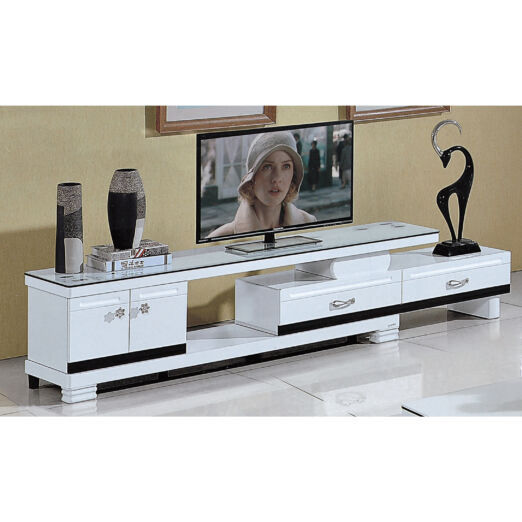 EXTENDABLE GLASS TOP TV CONSOLE 3M-TV-1135