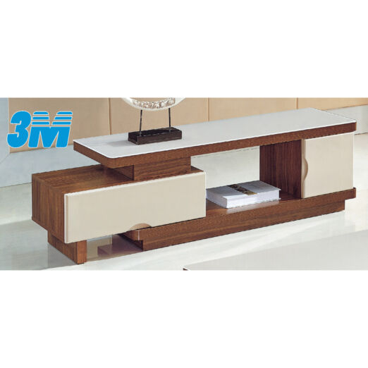 EXTENDABLE GLASS TOP TV CONSOLE 3M-TV-1136
