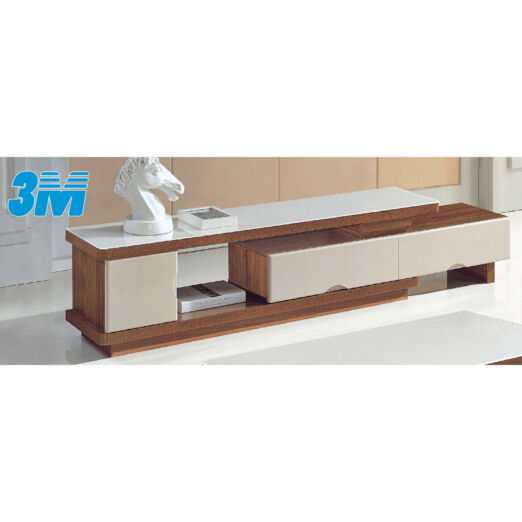 EXTENDABLE GLASS TOP TV CONSOLE 3M-TV-1137