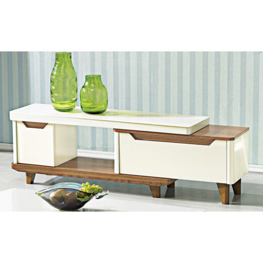 EXTENDABLE GLASS TOP TV CONSOLE 3M-TV-1140