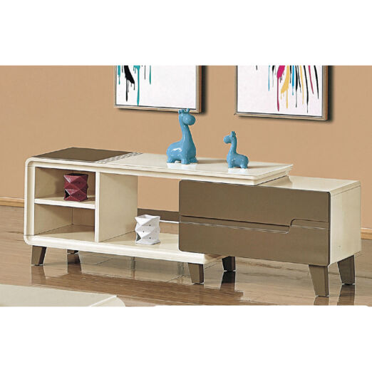 EXTENDABLE GLASS TOP TV CONSOLE 3M-TV-1149