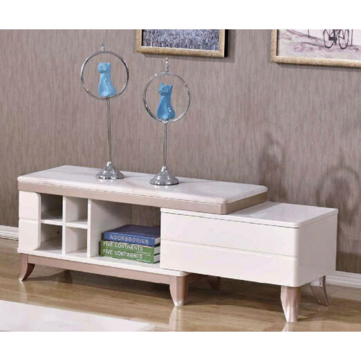 EXTENDABLE MARBLE TOP TV CONSOLE 3M-TV-1159