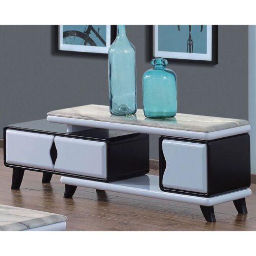 EXTENDABLE MARBLE TOP TV CONSOLE 3M-TV-1164