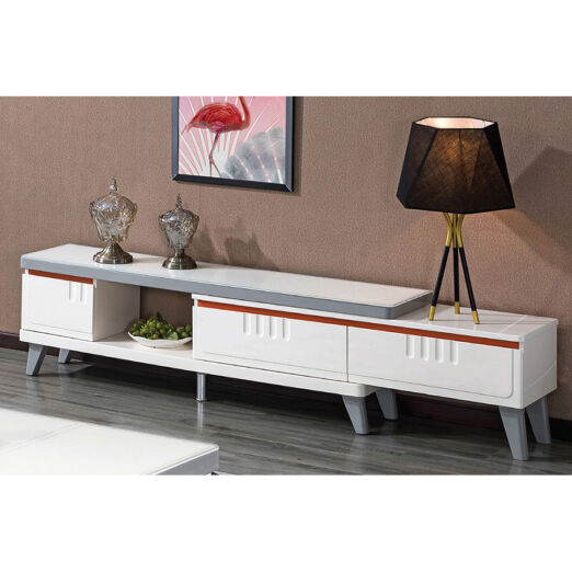 EXTENDABLE GLASS TOP TV CONSOLE 3M-TV-1189