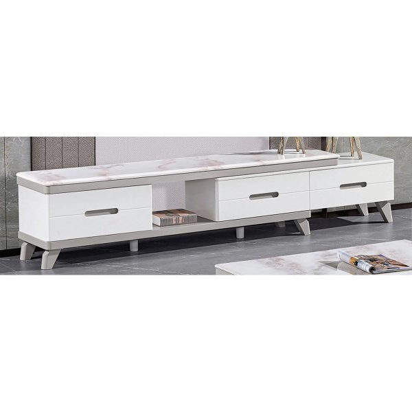 EXTENDABLE MARBLE TOP TV CONSOLE 3M-TV-1199