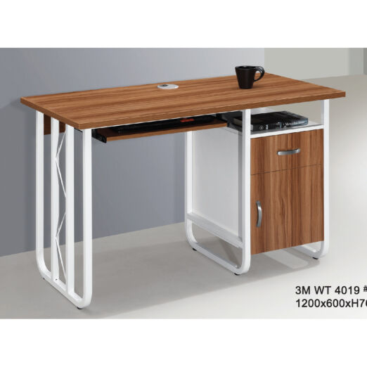 STUDY TABLE WITH METAL LEG 3M-WT-4019