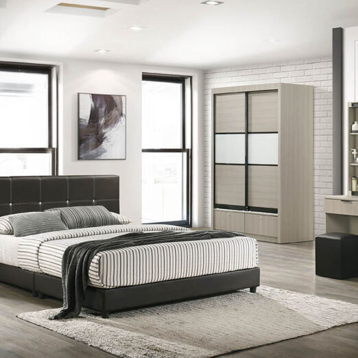 T1 BEDROOM SET-BRN