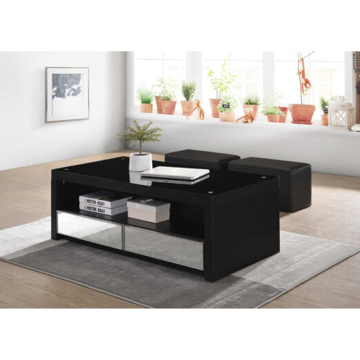 T1 COFFEE TABLE & 2 STOOLS
