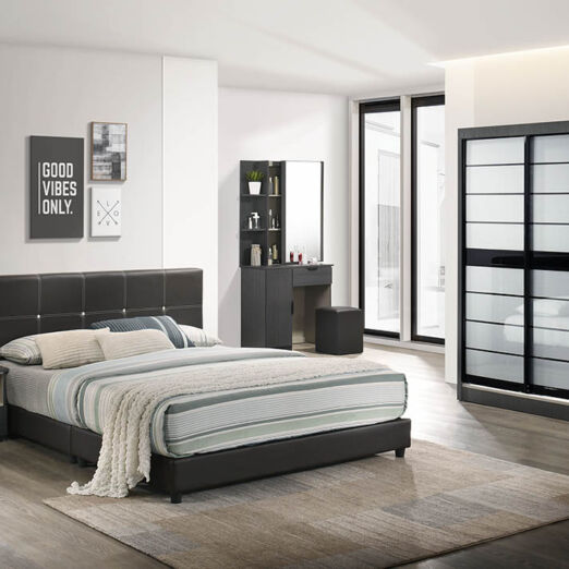T1 BEDROOM SET-BLK