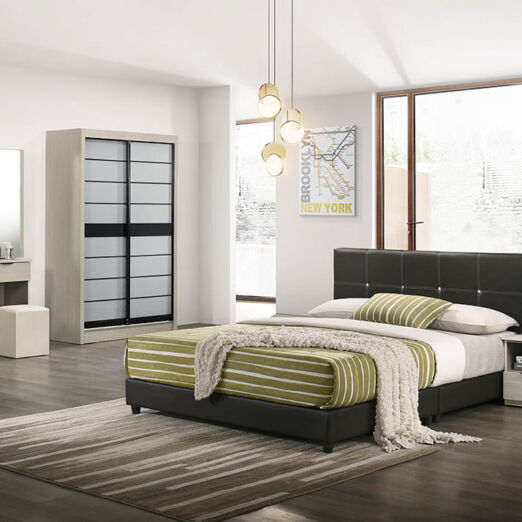 T1 BEDROOM SET-WHT