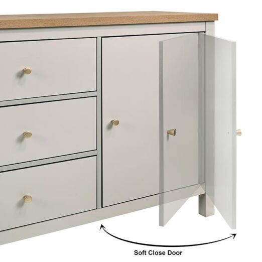 AKARA SIDEBOARD (2 DOOR 3 DRAWER)