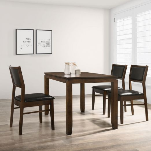 Scandinavian Set: 1 Table+4 Chairs 16249+1703*T1