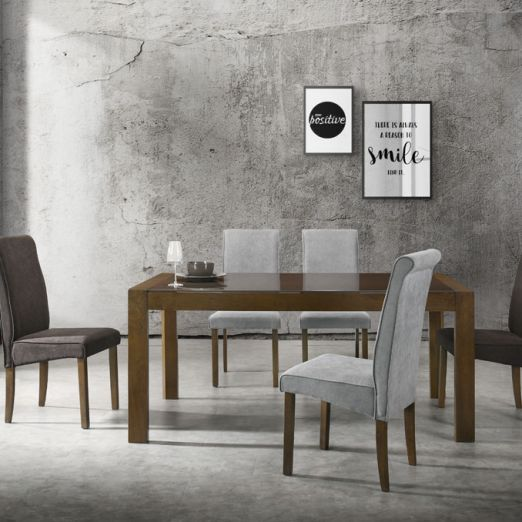 Scandinavian SET: 1 TABLE+6 CHAIRS 3015+2001*T1