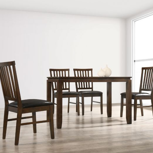 Scandinavian SET: 1 TABLE+4 CHAIRS 16249+2003*T1