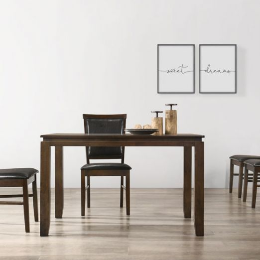 Scandinavian SET: 1 TABLE+4 CHAIRS 16249+2004*T1