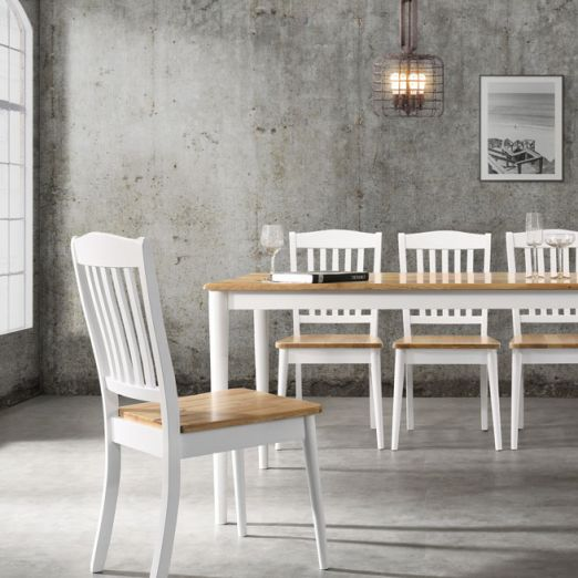 Scandinavian SET: 1 TABLE+6 CHAIRS 3014+2007*T1