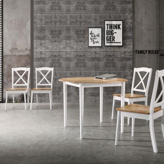 Scandinavian SET: 1 TABLE+4 CHAIRS 3014+2009*T1