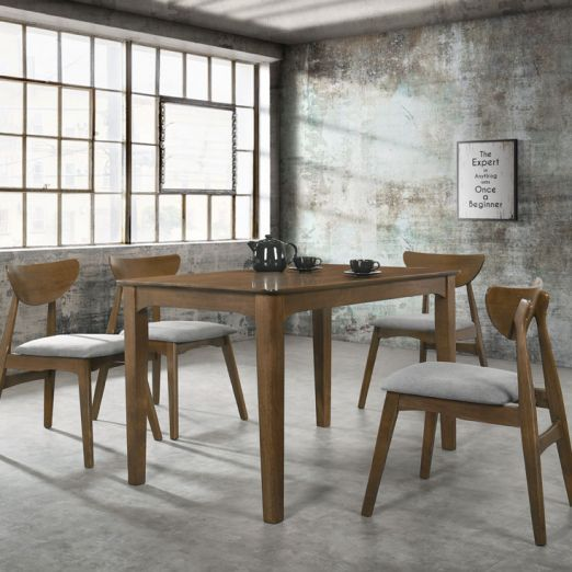 Scandinavian SET: 1 TABLE+4 CHAIRS 3009+2010*T1