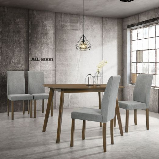 Scandinavian SET: 1 TABLE+4 CHAIRS 3013+2015*T1