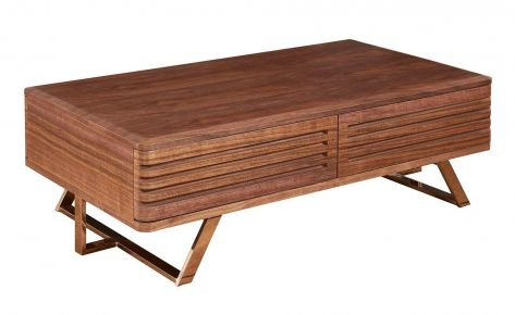 Noceli Paneled Round Edge Coffee Table