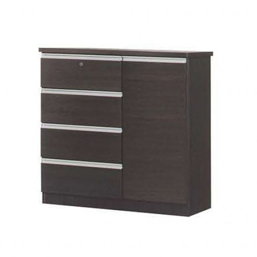 Chest of Drawer 1 Door 4 Drawers with Lock